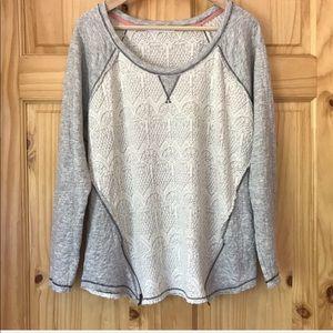 Maurices lace & zipper sweatshirt plus Sz 20/22